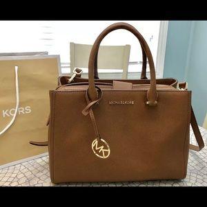 $348 Michael Kors Leslie Handbag MK Satchel Bag
